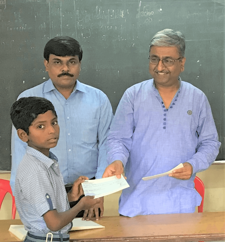 School Education fees sponsored by Anurag Gupta