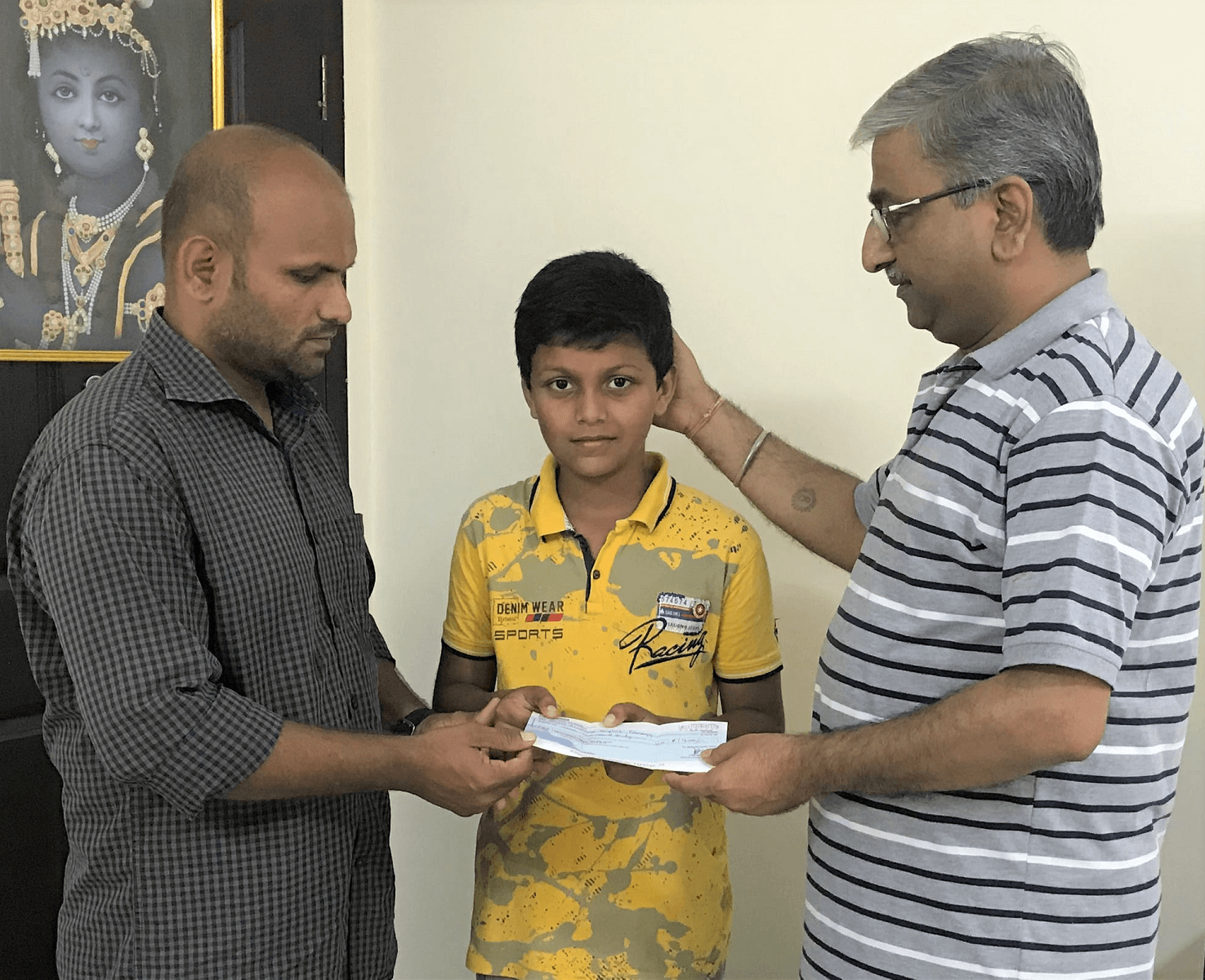 Education fees sponsored by Mr Amit Barshikar & Friends