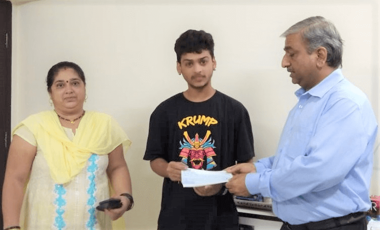 College Education fees sponsored by Vikash Sinha