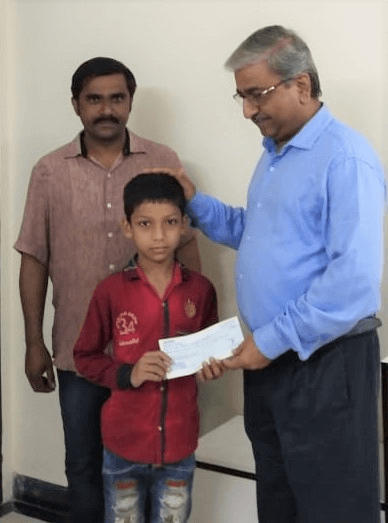 Education fees sponsored by Amit Dhotre